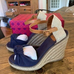 Tory Burch Espadrille Canvas Wedge